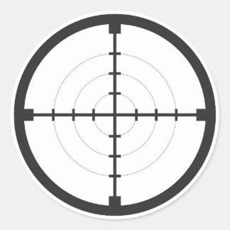 sniper finder target symbol weapon gun army classic round sticker
