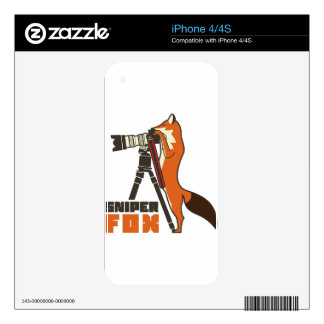 Sniper Fox iPhone 4S Decal