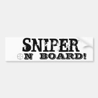 SNIPER ON BOARD! Funny Bumper Sticker
