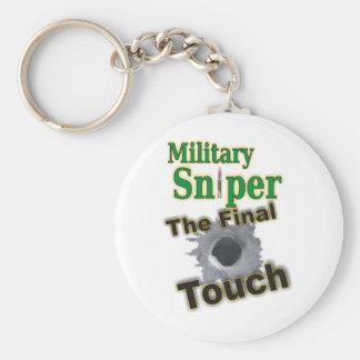 "Sniper ""One Shot One Kill"" Basic Round Button Keychain"