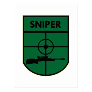Sniper Patch Postcard