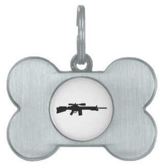 Sniper rifle pet ID tag