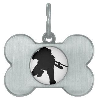 Sniper Silhouette Pet ID Tag