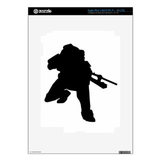 Sniper Silhouette Skins For iPad 3