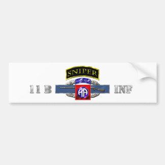 Sniper Tab 11B CIB 82nd Air Car Bumper Sticker
