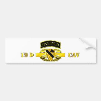 Sniper Tab 19D Cav Scout 1st Cav Bumper Sticker
