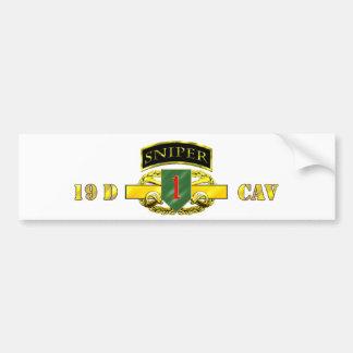 Sniper Tab 19D Cav Scout 1st ID Bumper Sticker