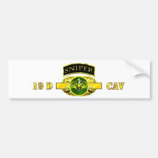 Sniper Tab 19D Cav Scout 3rd ACR Bumper Sticker