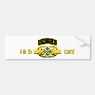 Sniper Tab 19D Cav Scout 4th ID Bumper Sticker