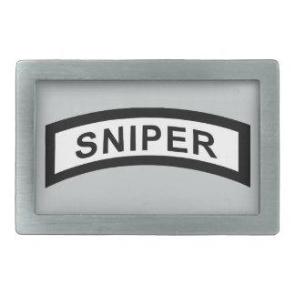 Sniper Tab - Black & White Belt Buckle