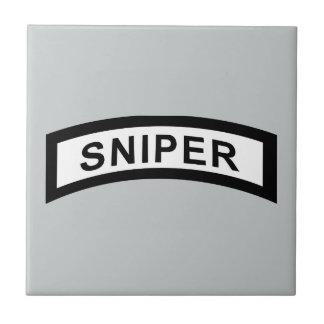 Sniper Tab - Black & White Ceramic Tile
