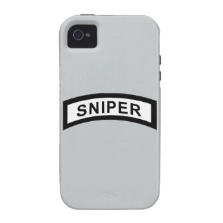 Sniper Tab - Black & White iPhone 4 Cover