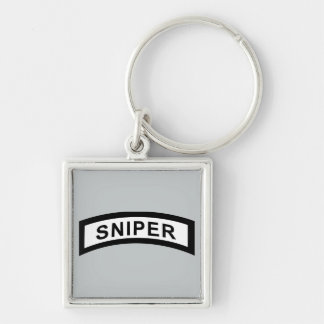 Sniper Tab - Black & White Keychain