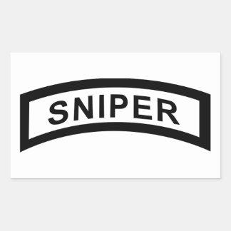 Sniper Tab - Black & White Rectangular Sticker