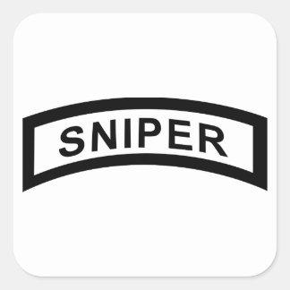 Sniper Tab - Black & White Square Sticker