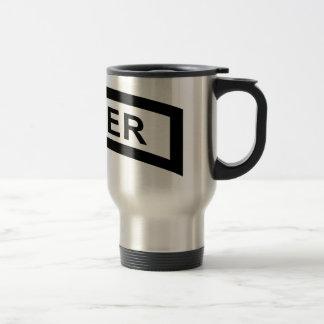 Sniper Tab - Black & White Travel Mug