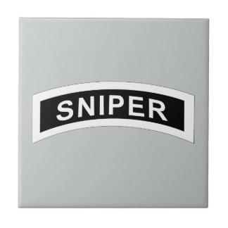 Sniper Tab - White & Black Ceramic Tile