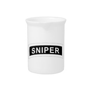 Sniper Tab - White & Black Drink Pitcher