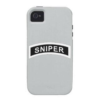 Sniper Tab - White & Black iPhone 4/4S Case