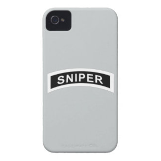 Sniper Tab - White & Black iPhone 4 Case