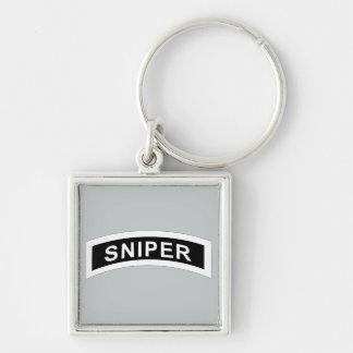 Sniper Tab - White & Black Keychain