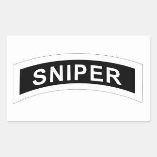 Sniper Tab - White & Black Rectangular Sticker