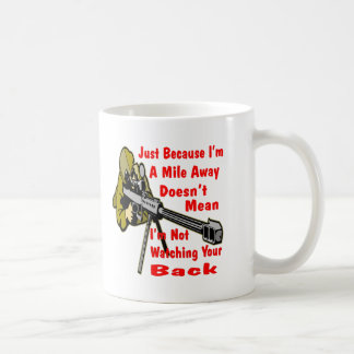 Sniper Watching Your Back A Mile Away Coffee Mug
