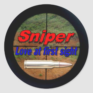Snipers sniper military army marines navy lrrp round sticker
