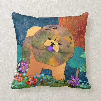 SNIPPET Chow square pillows- choose size/fabric Throw Pillow