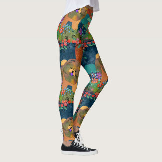 SNIPPETS- large pattern - Chow leggings