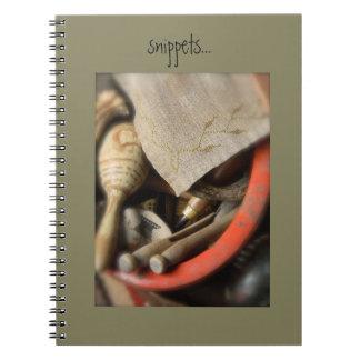 """Snippets"" notebook from Notforgotten Farm"