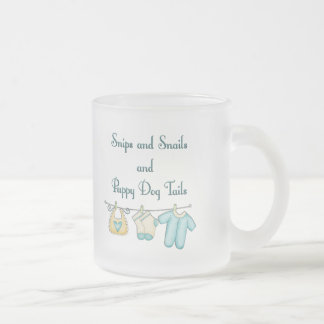 Snips and Snails and Puppy Dog Tails Frosted Glass Coffee Mug