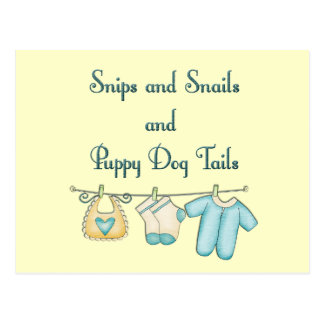 Snips and Snails and Puppy Dog Tails Post Cards