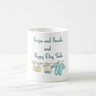 snips and snails coffee mug