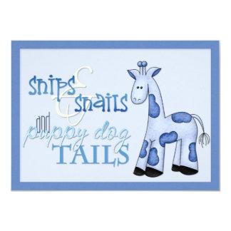Snips & Snails Baby Boy Blue Shower Invitation