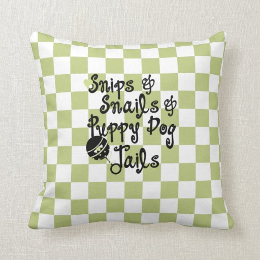 Snips & Snails Baby Room Pillow