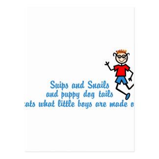 Snips & Snails Postcard