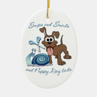 SNIPS SNAILS & PUPPY DOG TAILS ... CERAMIC ORNAMENT