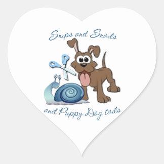 SNIPS SNAILS & PUPPY DOG TAILS ... HEART STICKER