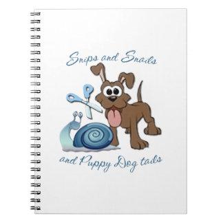 SNIPS SNAILS & PUPPY DOG TAILS ... SPIRAL NOTEBOOKS