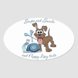 SNIPS SNAILS & PUPPY DOG TAILS ... OVAL STICKER