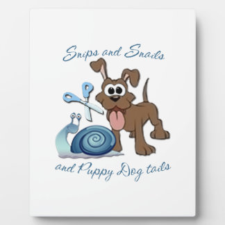 SNIPS SNAILS & PUPPY DOG TAILS ... DISPLAY PLAQUES