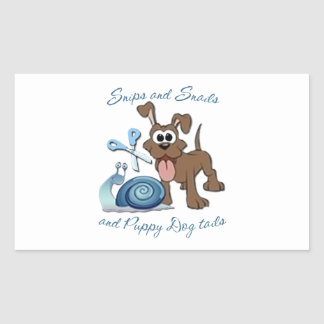 SNIPS SNAILS & PUPPY DOG TAILS ... RECTANGLE STICKERS