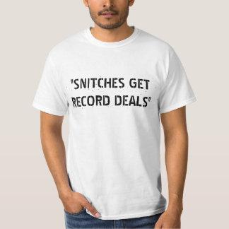 """""""SNITCHES GET RECORD DEALS"""" T-Shirt"""