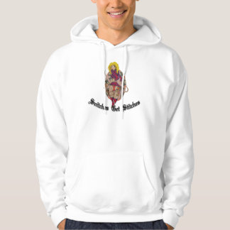 Snitches get stiches hooded pullover