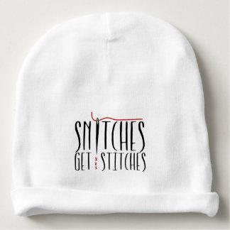 Snitches Get Stitches Baby Beanie