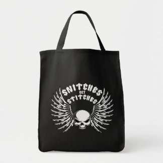 Snitches Get Stitches Canvas Bags