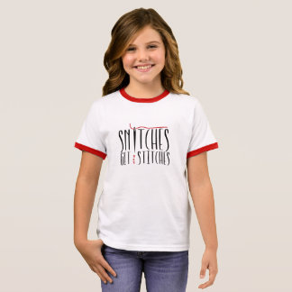 Snitches Get Stitches Kids T-Shirt