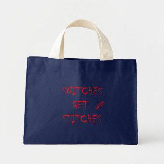 Snitches Get Stitches Mini Tote Bag