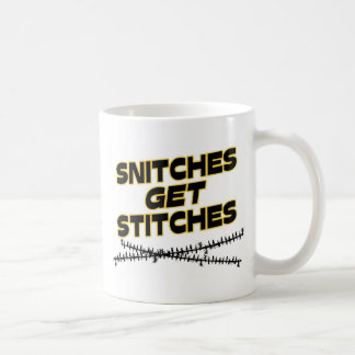 Snitches Get Stitches Classic White Coffee Mug